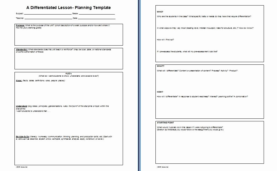 Differentiated Instruction Lesson Plan Template Beautiful Adrian S thoughts On Education K U D Vs 4mat