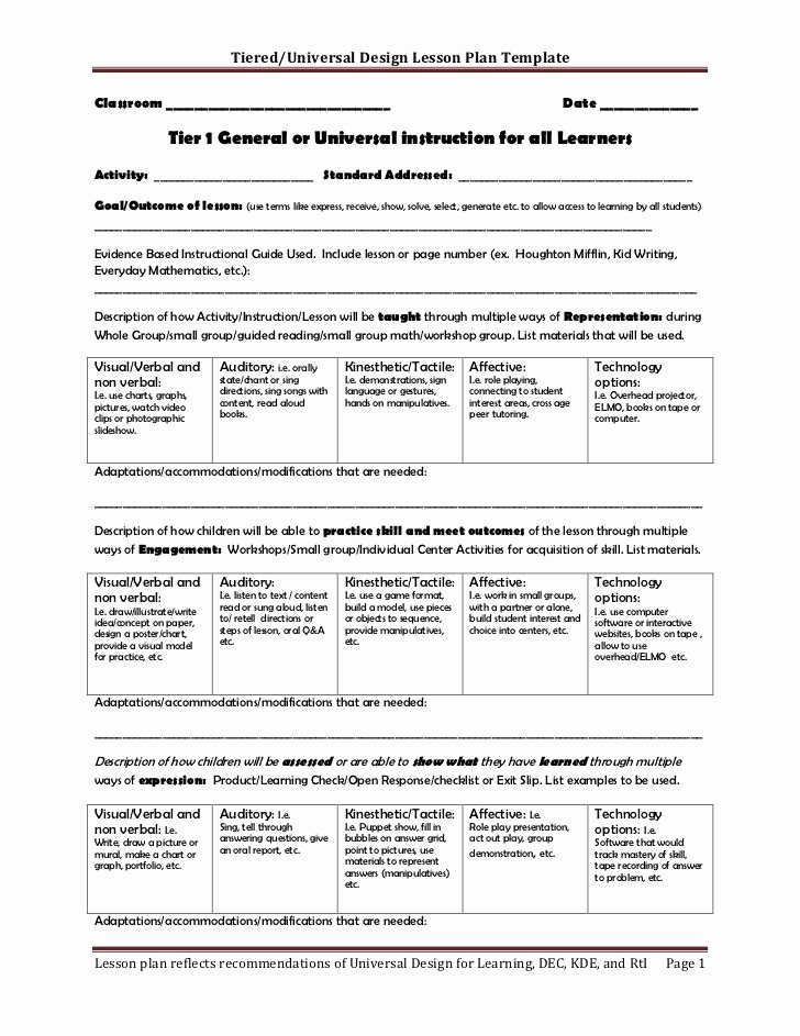 Differentiated Instruction Lesson Plan Template Fresh 19 Best Tiered Lesson Plans Images On Pinterest