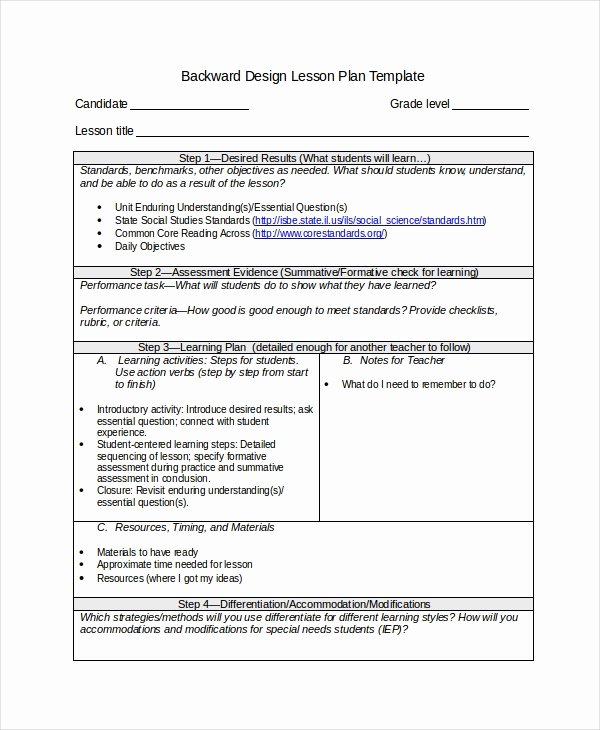 Differentiated Instruction Lesson Plan Template Fresh Differentiated Instruction Template 7 Free Word Pdf
