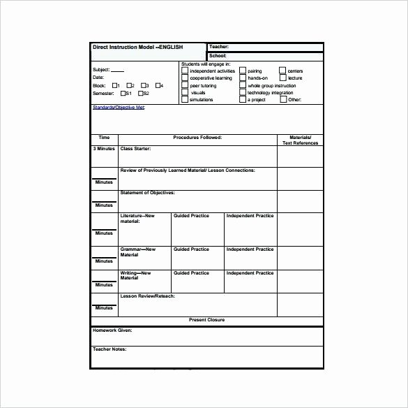 Differentiated Instruction Lesson Plan Template Fresh Differentiated Lesson Plan Template Pdf – Differentiated