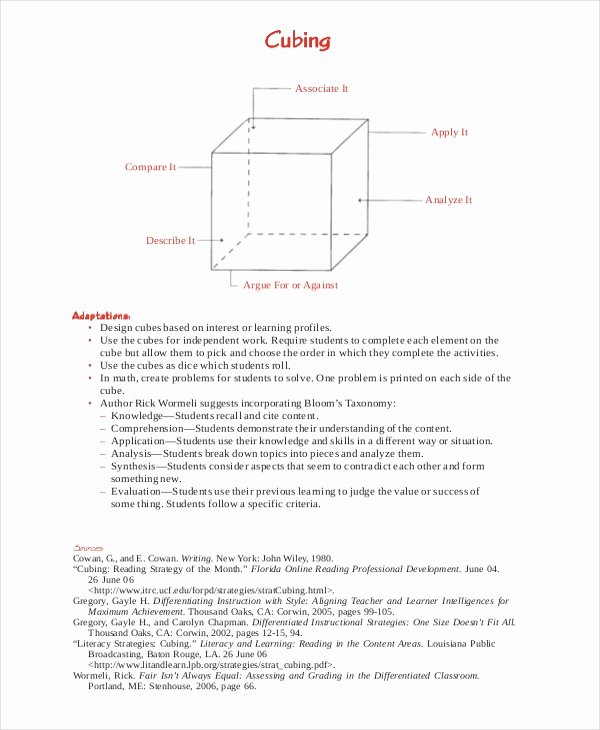 Differentiated Instruction Lesson Plan Template New Differentiated Instruction Template 7 Free Word Pdf
