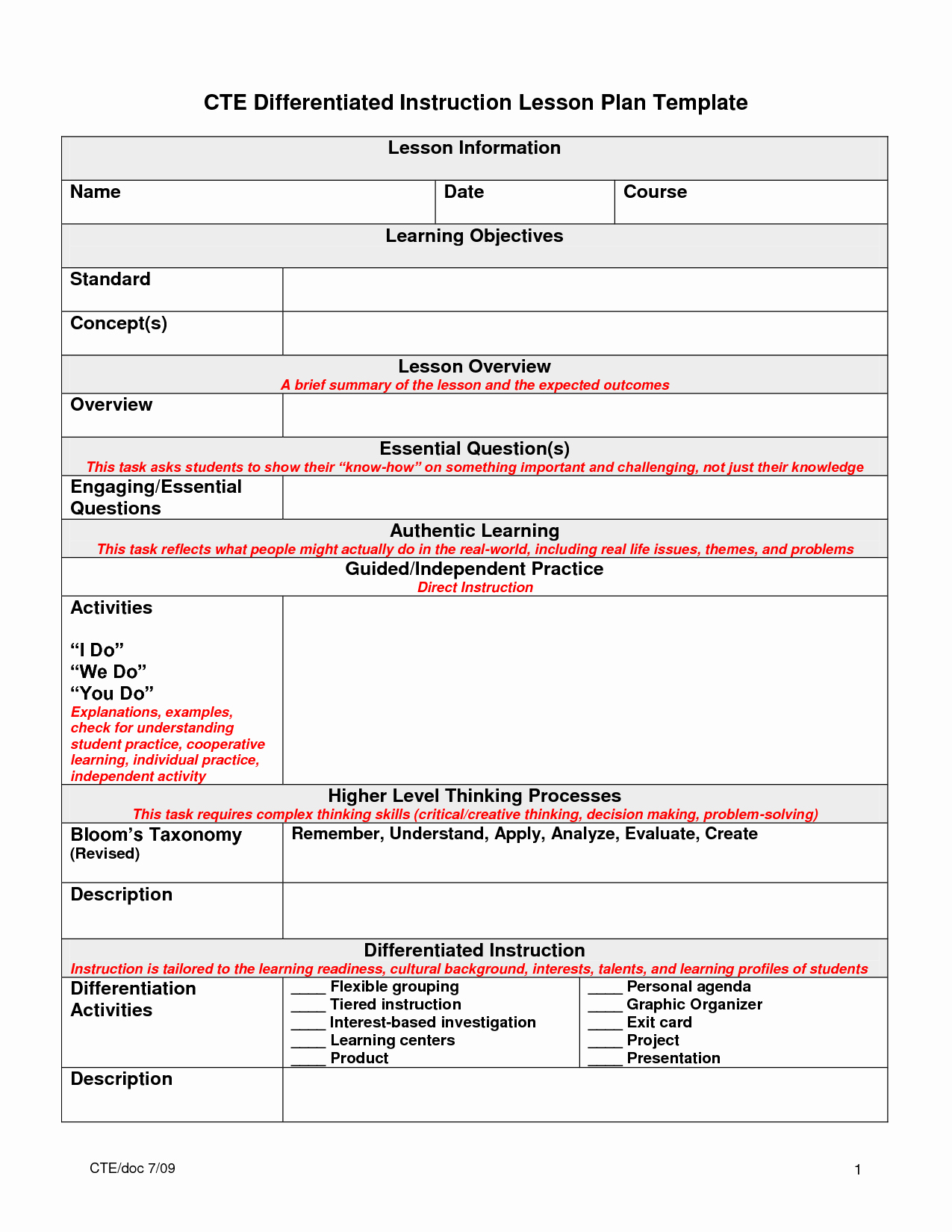Differentiated Lesson Plan Template Awesome 5 Best Of Essential Question Lesson Plan Template