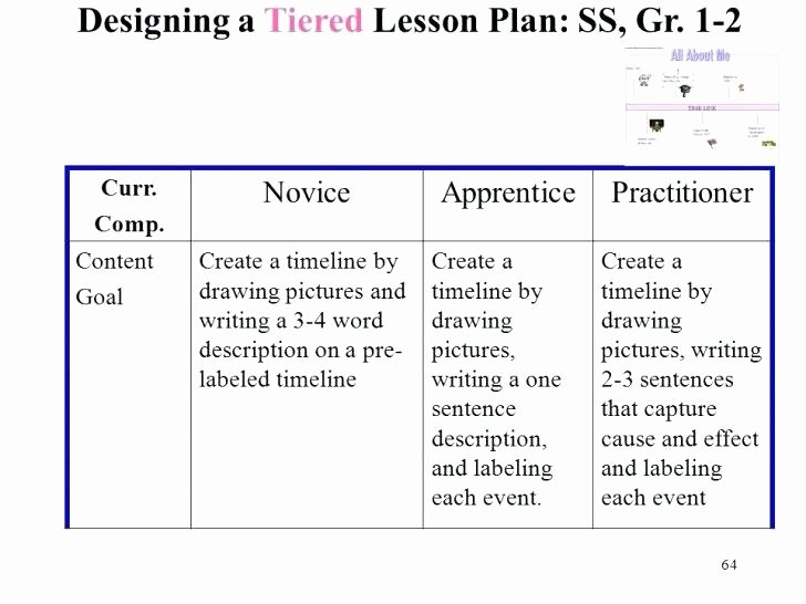 Differentiated Lesson Plan Template Awesome Tiered Lesson Plan Template Differentiated Instruction