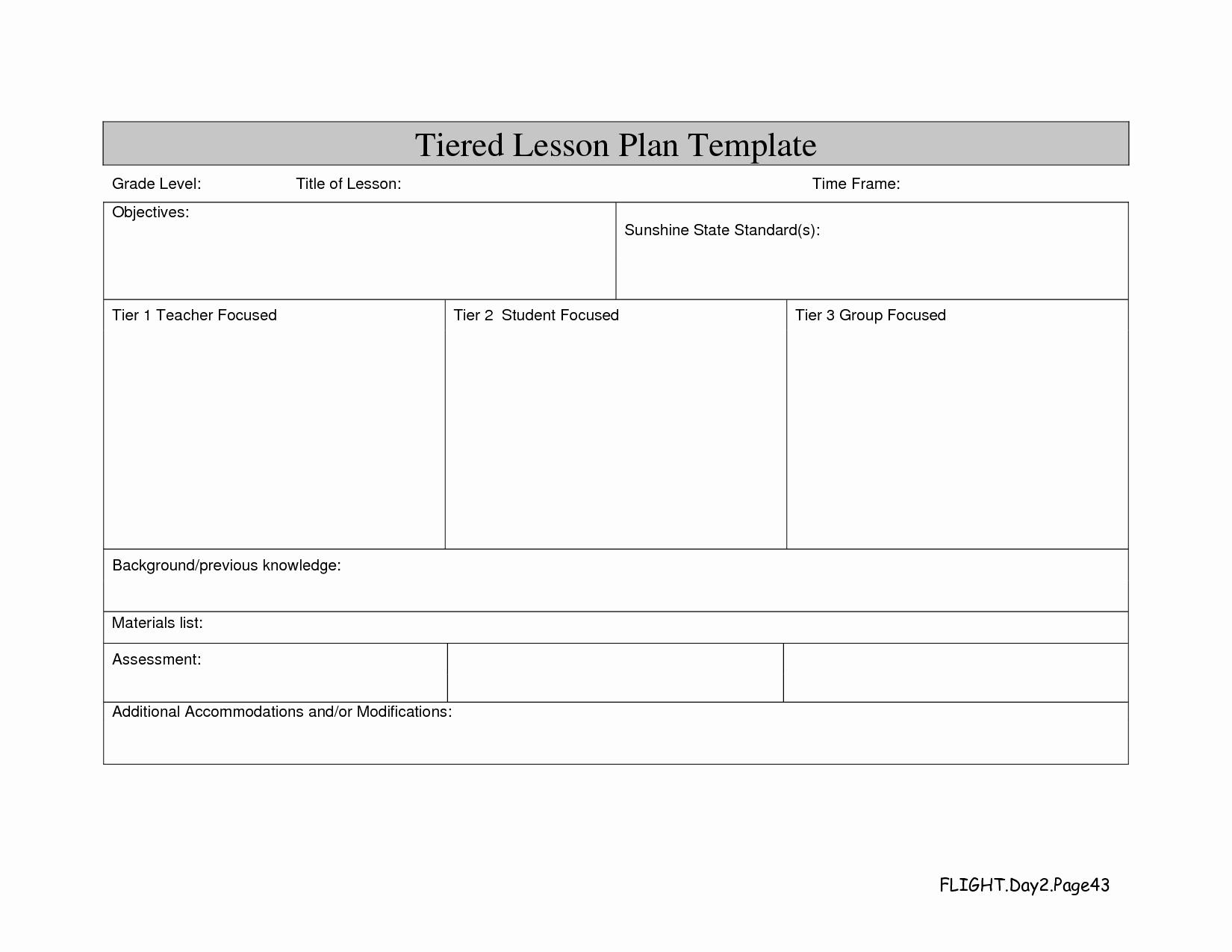 Differentiated Lesson Plan Template Unique Differentiated Lesson Plan Template