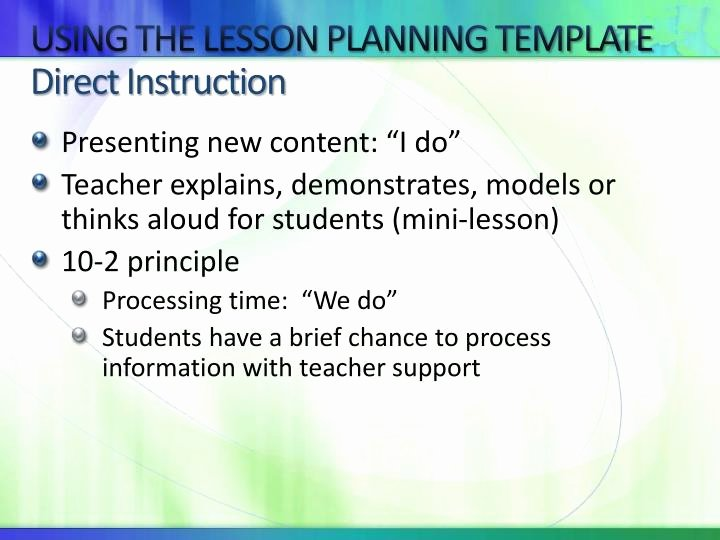 Direct Instruction Lesson Plan Template Beautiful Ppt Enhancing Lesson Planning Powerpoint Presentation