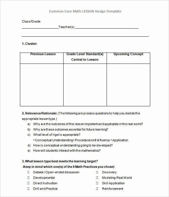 Direct Instruction Lesson Plan Template Fresh Direct Lesson Plan Template 50 Lesson Plan Templates Pdf
