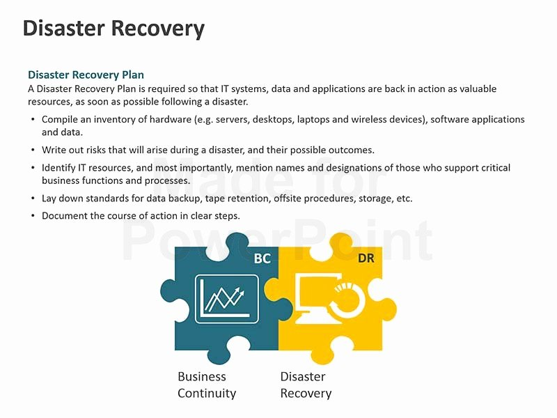 Disaster Recovery Plan Template Awesome Business Continuity Plan Template Powerpoint Presentation