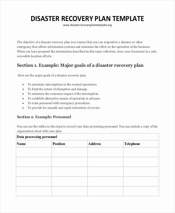Disaster Recovery Plan Template Best Of Plan Template 18 Free Word Pdf Psd Indesign format