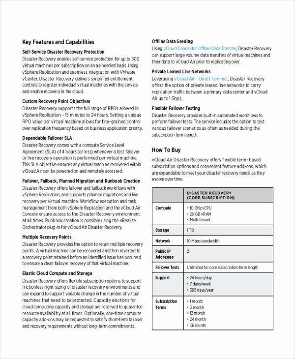 Disaster Recovery Plan Template New 9 Disaster Recovery Plan Examples