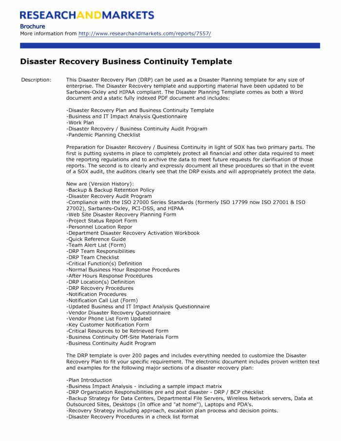 Disaster Recovery Plan Template Nist Lovely Call Center Disaster Recovery Plan Template Templates