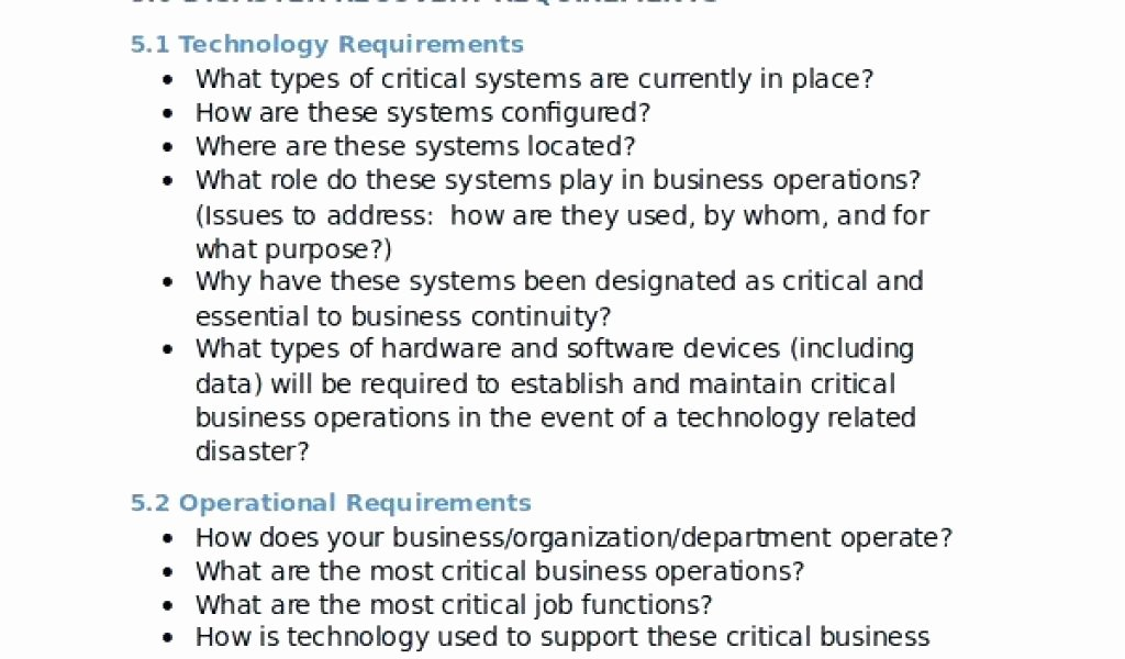 Disaster Recovery Plan Template Nist New Small Business Disaster Recovery Plan Simple Template for