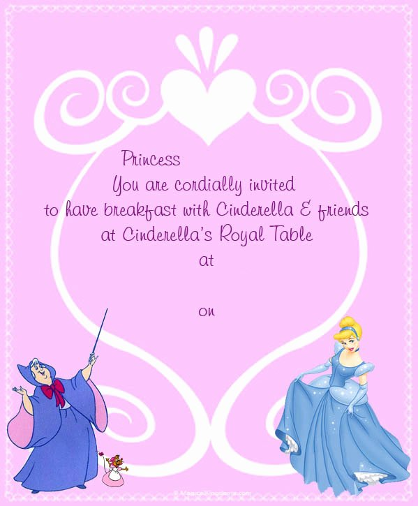 Disney Surprise Letter Template Awesome Disney Printable Trip and event Invitations Free