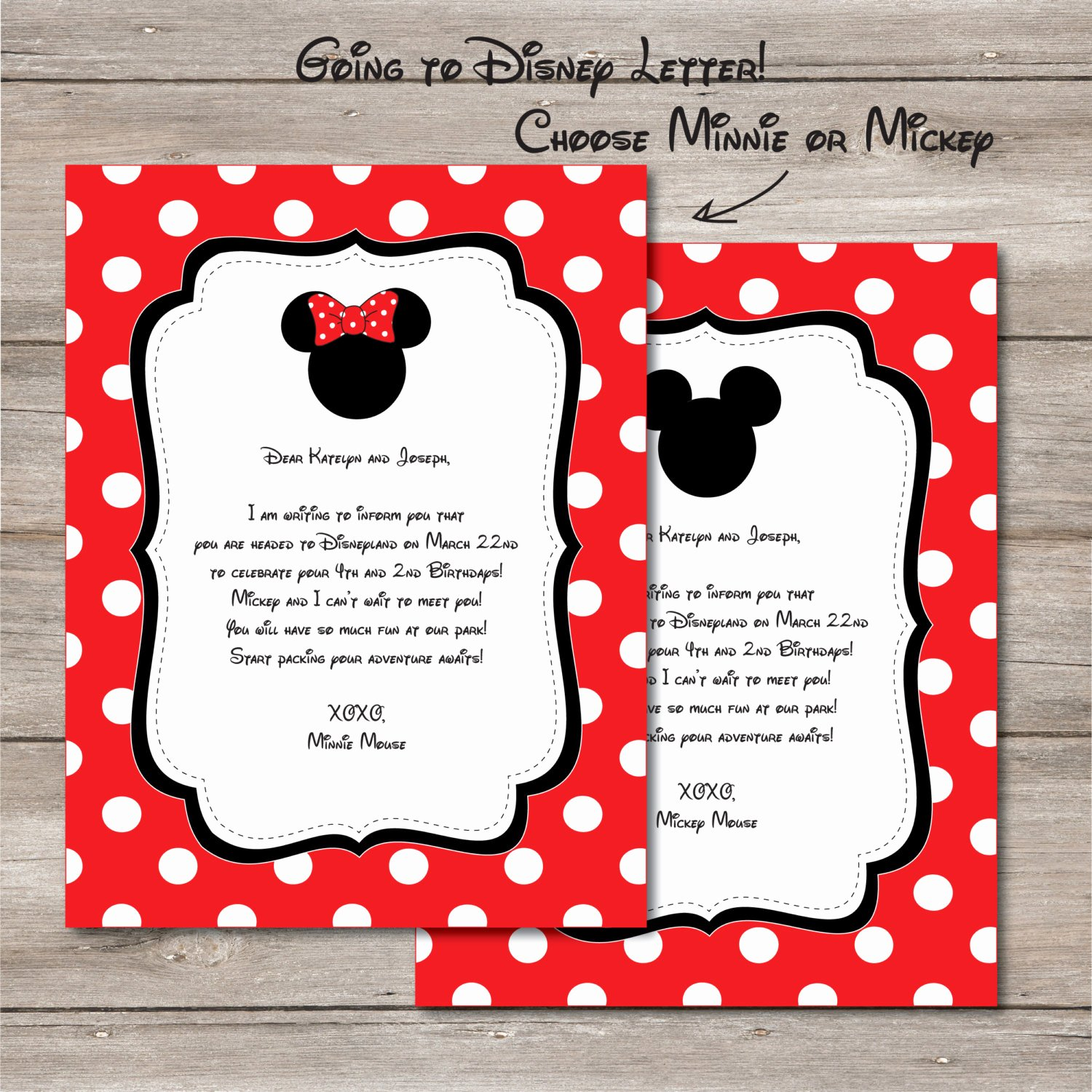 Disney Surprise Letter Template Awesome Disney Surprise Letter Template Il Fullxfull