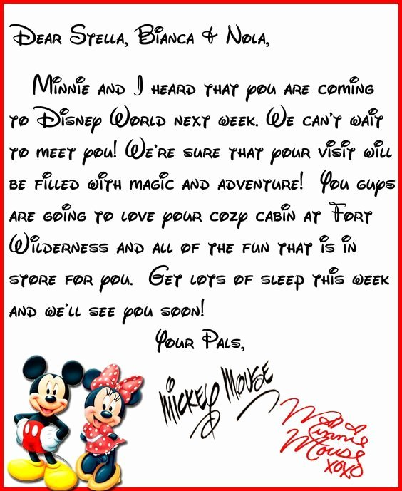 Disney Surprise Letter Template Awesome We Heard You Re Ing to Disney World A Letter From