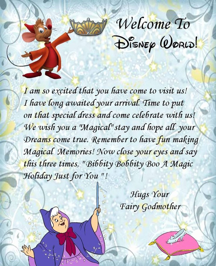 Disney Surprise Letter Template Best Of Wel E Letter Disney World Here I E D Yayyy