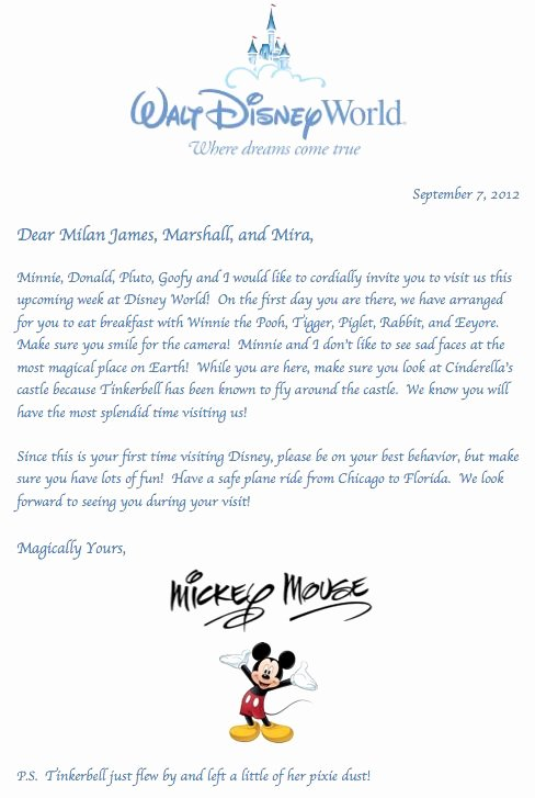 Disney Surprise Letter Template Elegant 51 Best Images About Disney Surprise Trip Ideas On