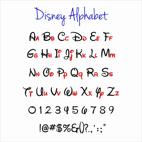Disney Surprise Letter Template Inspirational 7 Disney Alphabet Letters Free Psd Eps format
