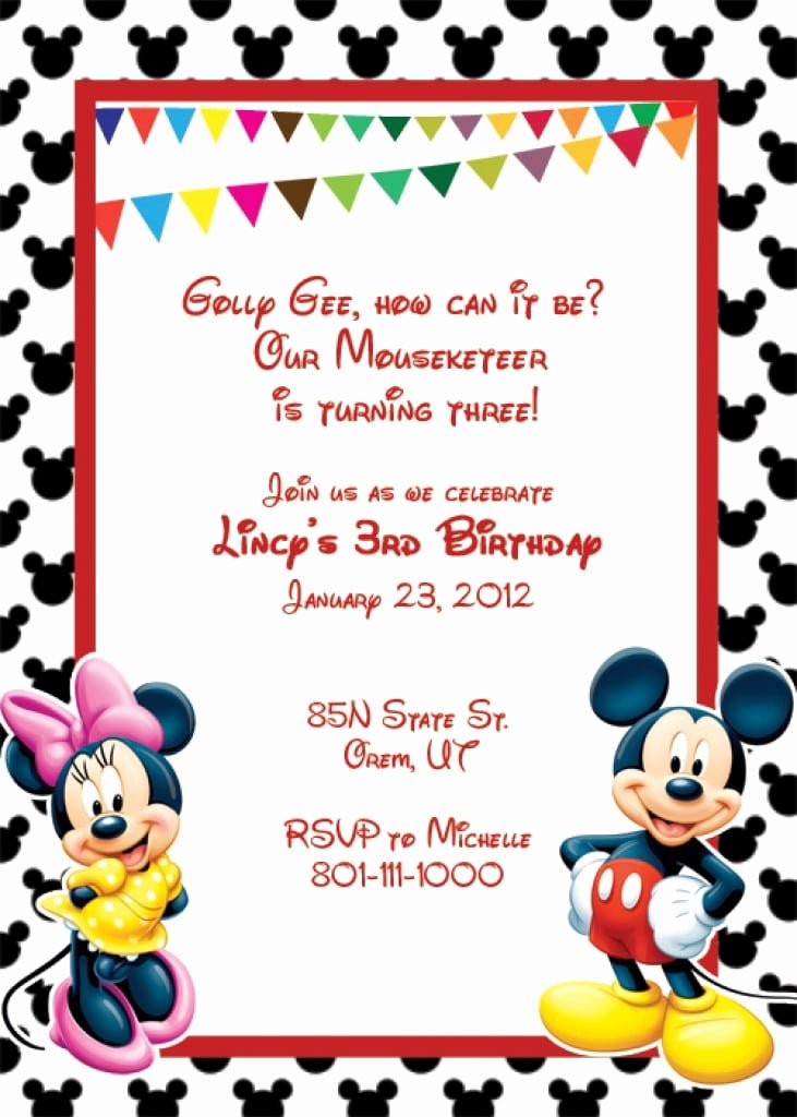 Disney Surprise Letter Template Inspirational Blank Mickey Mouse Invitation Template