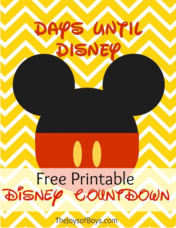 Disney Surprise Letter Template Inspirational Days until Disney Countdown Free Printable the Joys Of