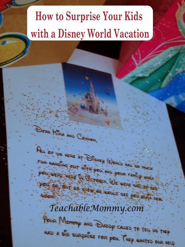 Disney Surprise Letter Template Inspirational Walt Disney World Vacation How to Surprise the Kids with A