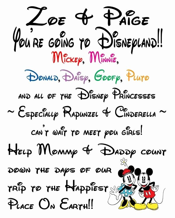 Disney Surprise Letter Template New 21 Best Ideas About Surprise Walt Disney World Trip On