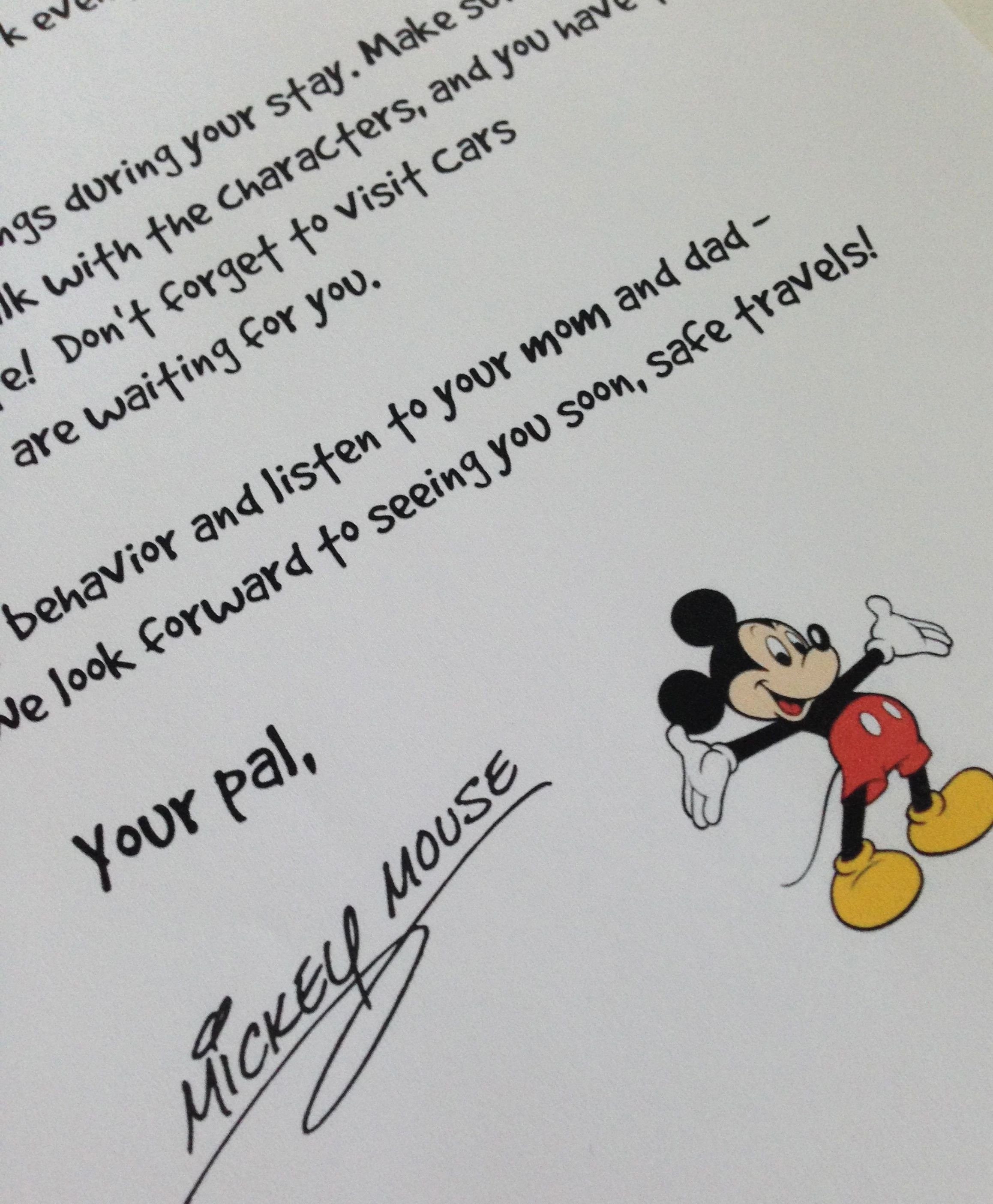 Disney Surprise Letter Template New Mickey Mouse Letter Template