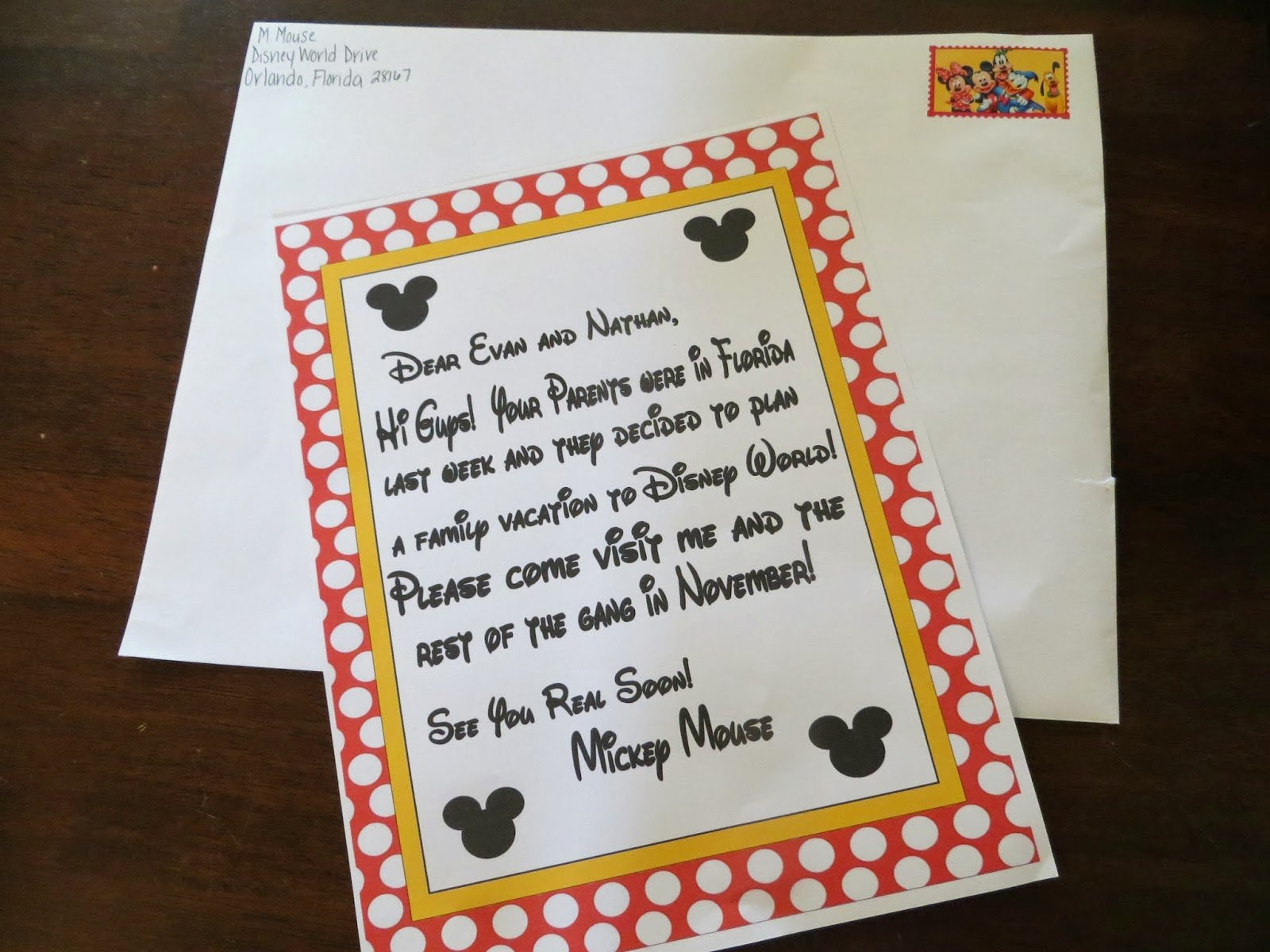 Disney Surprise Letter Template New Two Magical Moms Invitation to Disney World