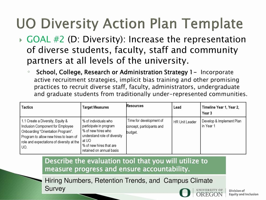 Diversity and Inclusion Plan Template Elegant Diversity Action Plan Sample