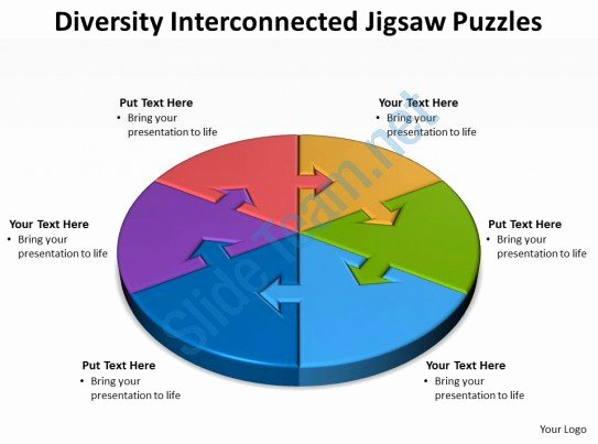 Diversity and Inclusion Plan Template Inspirational Diversity Interconnected Jigsaw Diagram Puzzles Powerpoint
