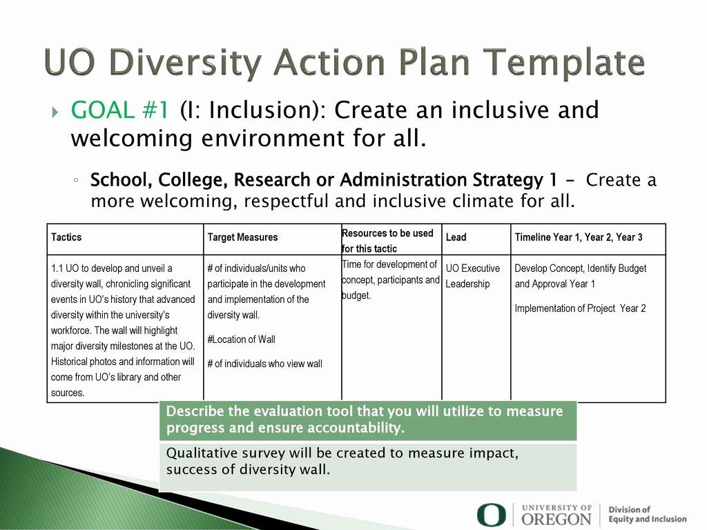 Diversity Strategic Plan Template Elegant Diversity Action Plan Sample
