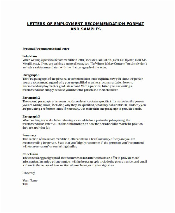 Do Letter Of Recommendation Beautiful 89 Re Mendation Letter Examples & Samples Doc Pdf