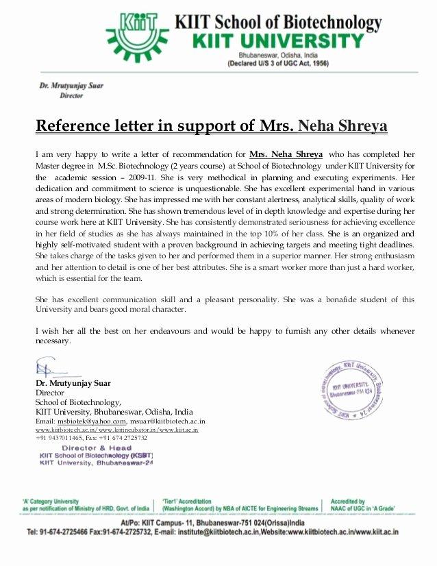 Do Letter Of Recommendation Elegant Re Mendation Letter Mrutyunjay Suar Sir Kiit University