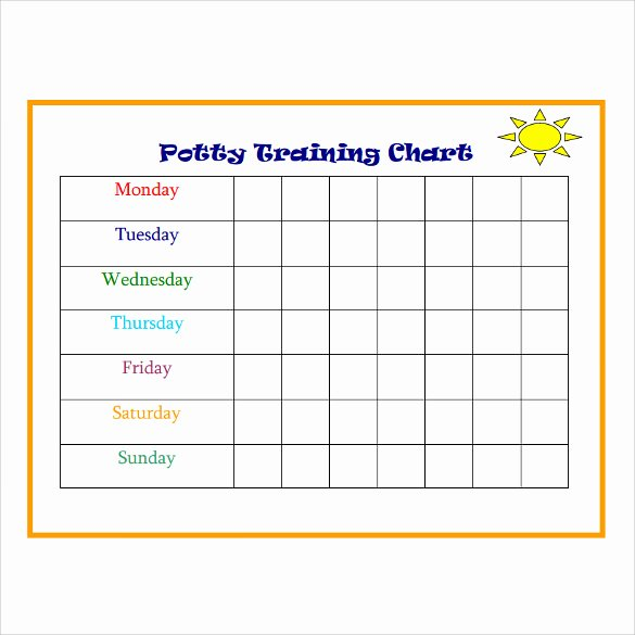 Dog Training Plan Template Best Of Potty Training Charts 9 Download Free Documents In Pdf