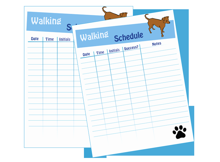 Dog Training Plan Template New Dog Walking Schedule Laminating Idea Center