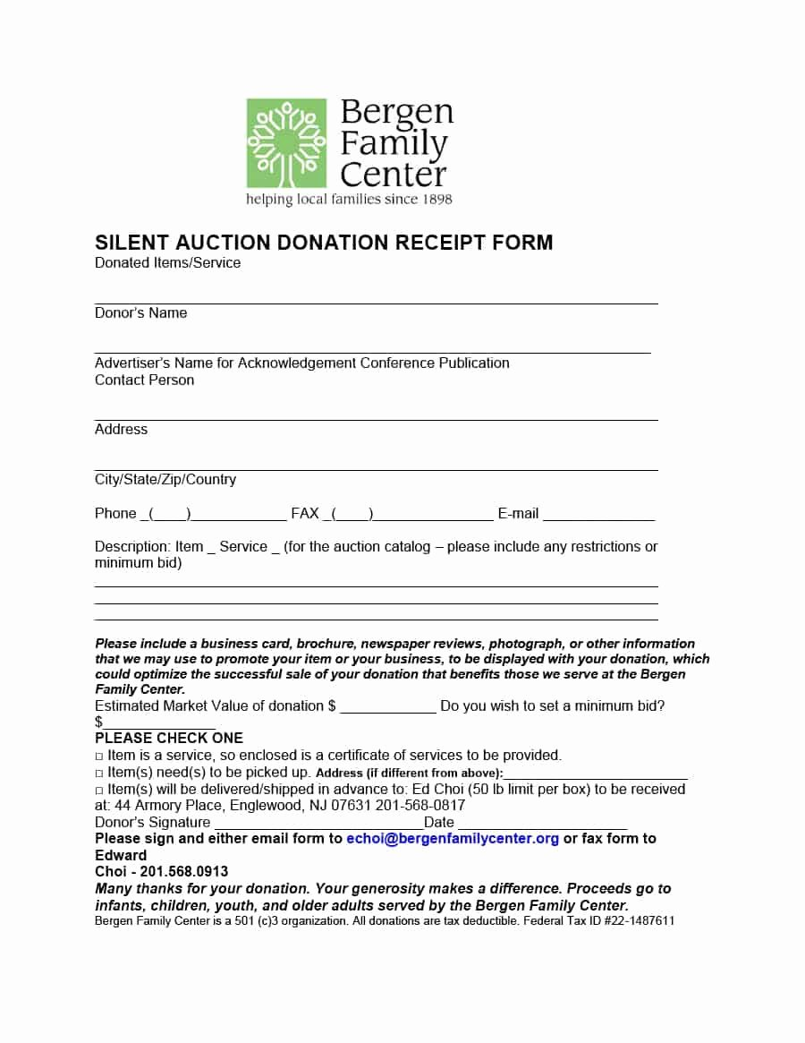 Donation Receipt Letter Template Fresh 40 Donation Receipt Templates & Letters [goodwill Non Profit]