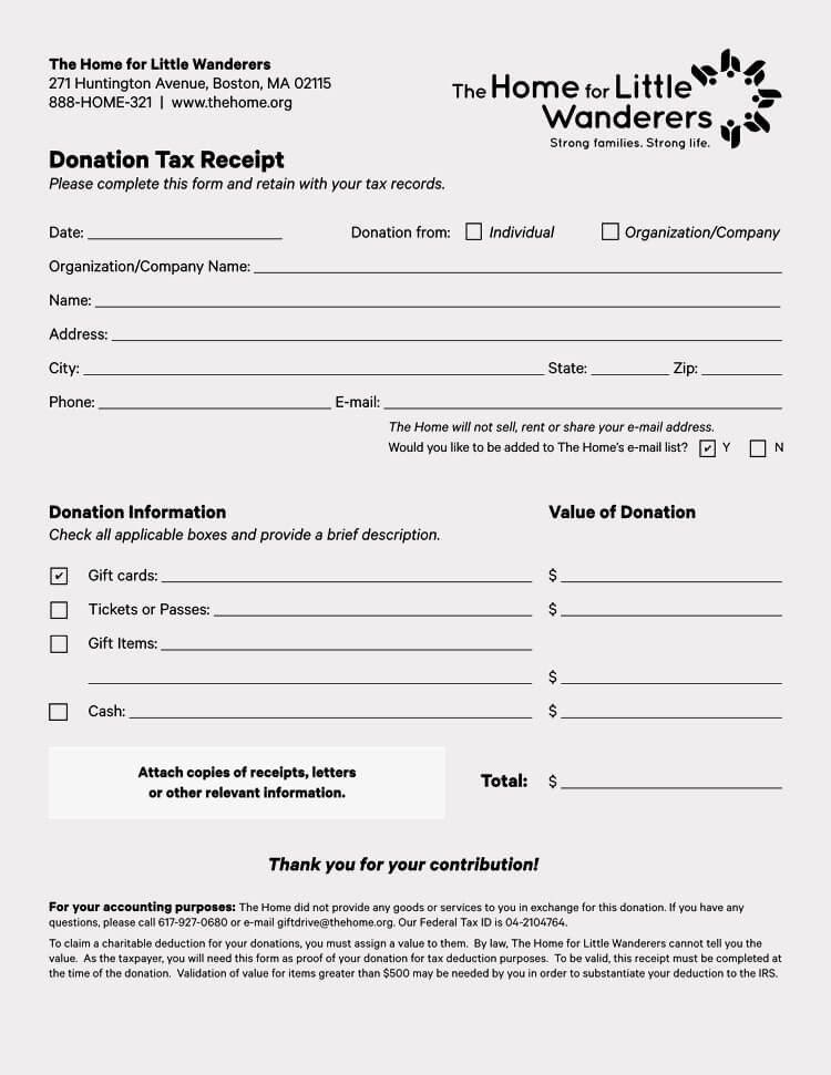 Donation Receipt Letter Template New 45 Free Donation Receipt Templates & formats Docx Pdf