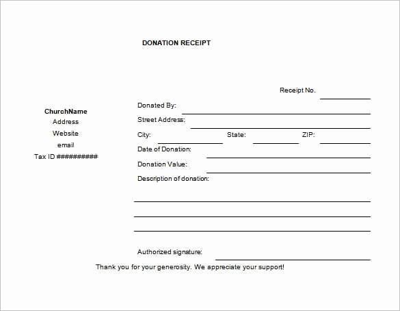 Donation Receipt Letter Templates Fresh 6 Cash Funds Donation Receipt Templates – Word Templates