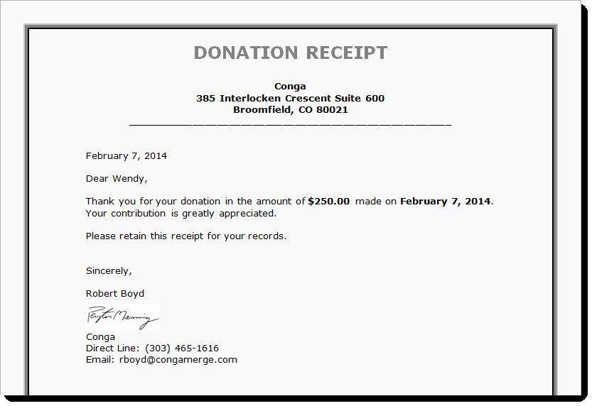 Donation Receipt Letter Templates Luxury Tax Receipts Board Reports and More Generating Documents