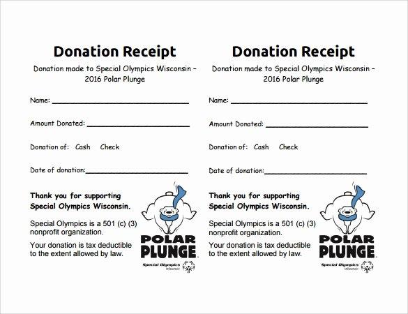 Donation Receipt Letter Templates Unique 10 Donation Receipt Templates – Free Samples Examples