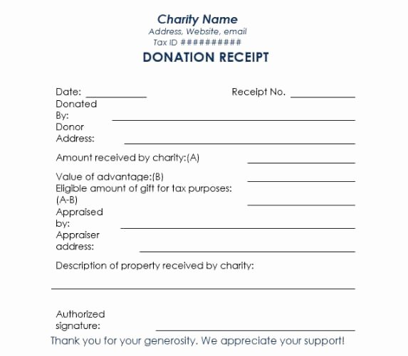 Donation Receipt Template Doc New 16 Donation Receipt Template Samples