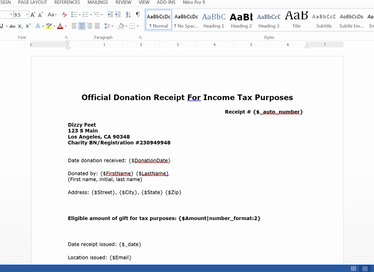 Donation Receipt Template Doc New Create Donation Tax Receipts From Salesforce