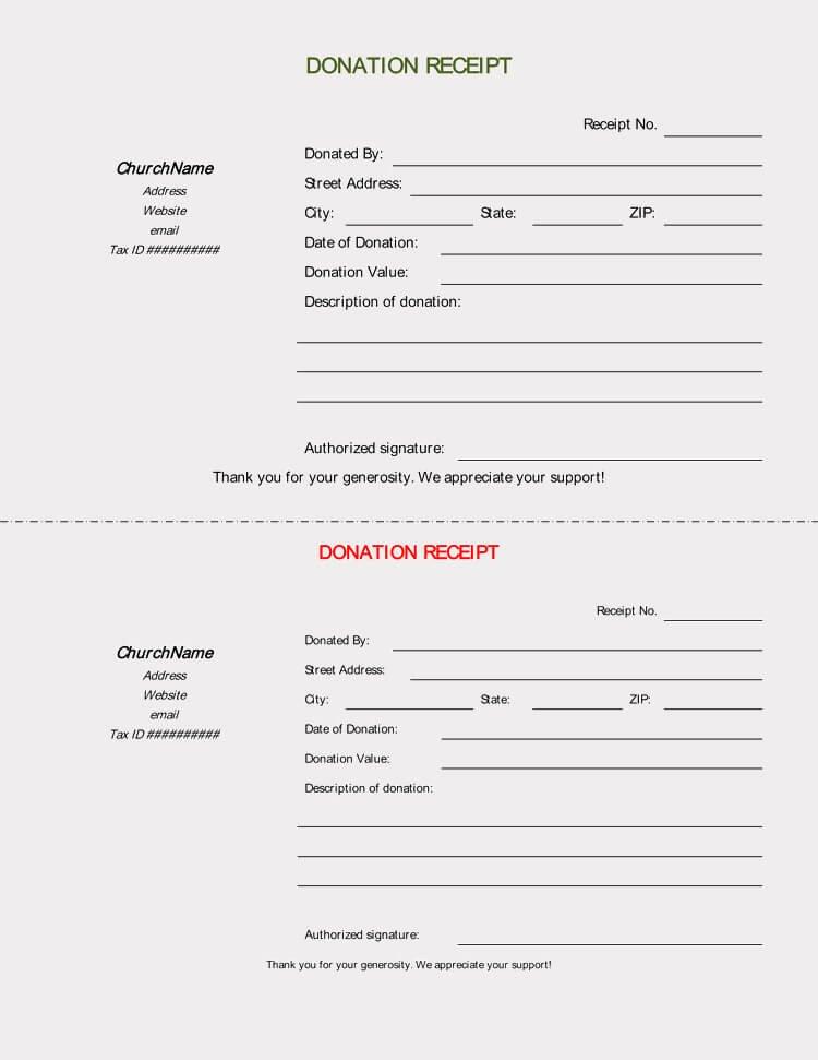Donation Receipt Template Doc Unique 45 Free Donation Receipt Templates & formats Docx Pdf