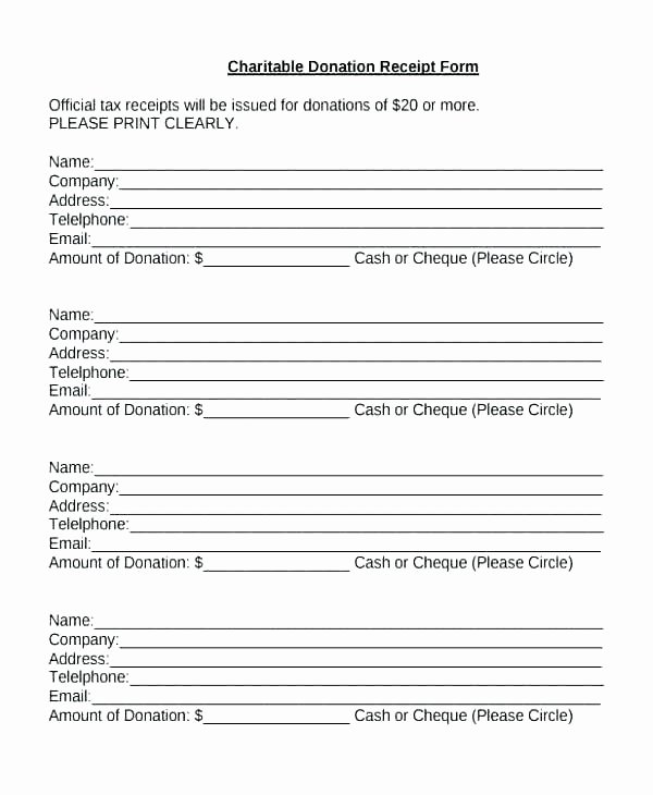 Donation Receipt Template for 501c3 Beautiful Donation Receipt Template Donation Receipt Army Donation