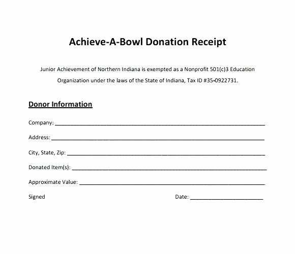 Donation Receipt Template for 501c3 Best Of Donation Receipt form Sponsorship Template Free Templates