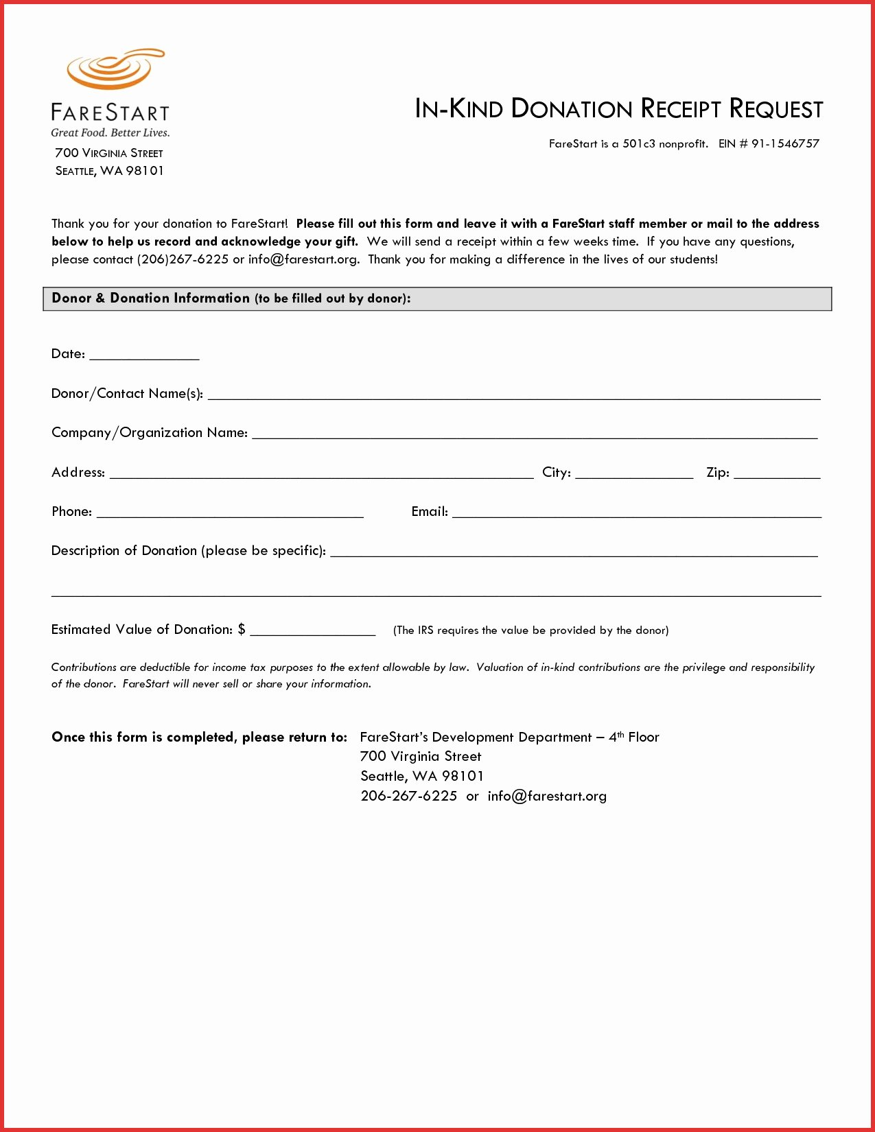Donation Receipt Template for 501c3 Luxury Donation Receipt Letter for Tax Purposes Church Sample