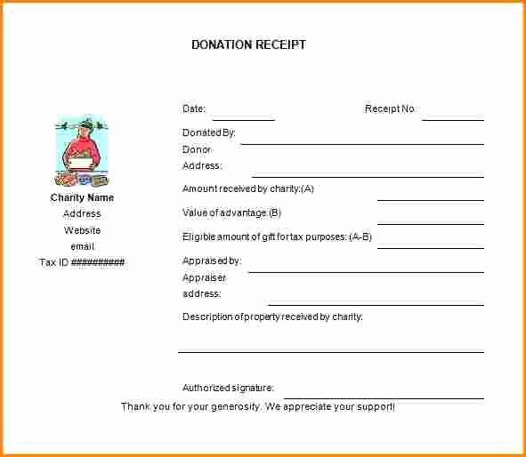 Donation Receipt Template Google Docs Beautiful 7 Non Profit Donation Receipt Template