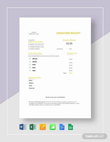 Donation Receipt Template Google Docs Best Of 20 Donation Receipt Templates Pdf Word Excel Pages