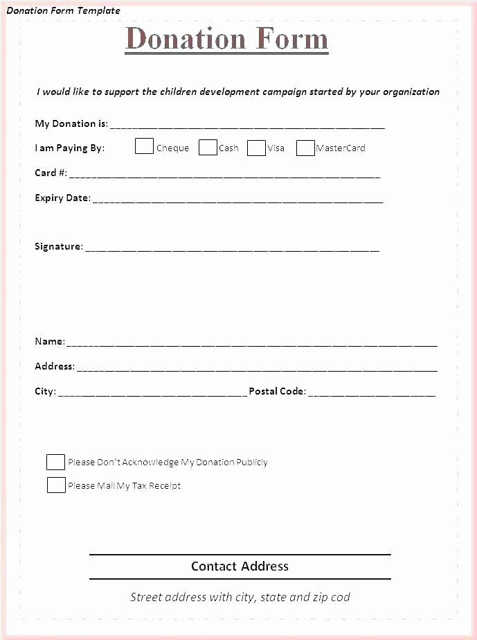 Donation Receipt Template Google Docs Best Of Ind Church Template Non Receipt Nonprofit Pledge form