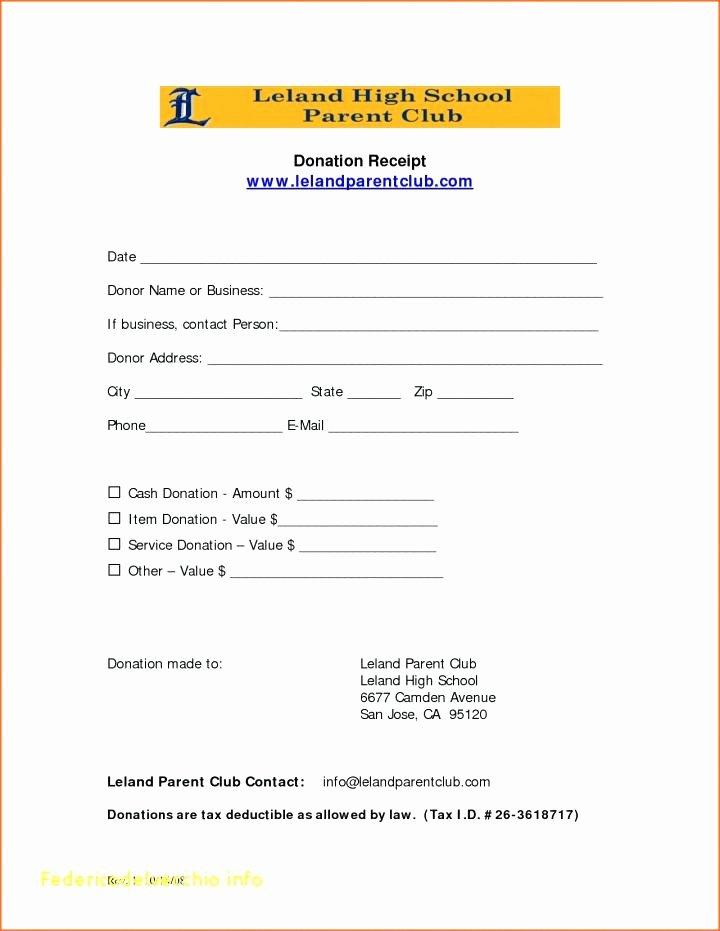 Donation Receipt Template Google Docs Luxury Ind Church Template Non Receipt Nonprofit Pledge form