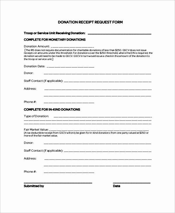 Donation Receipt Template Pdf Elegant 8 Sample Donation Receipt Letters